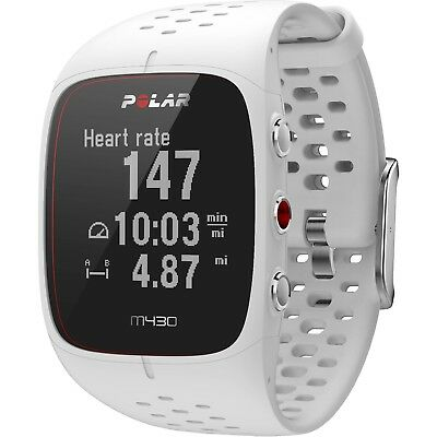 Polar M430 HRM GPS Running Watch White