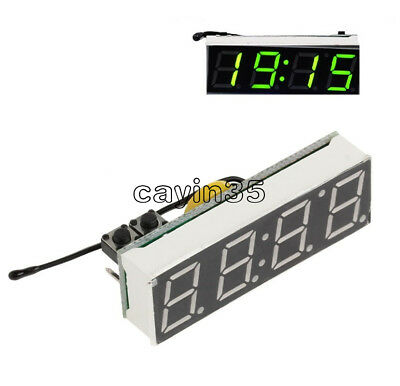 3 in 1 Green LED DS3231SN Digital Clock Temperature Voltage Module Electronic UK