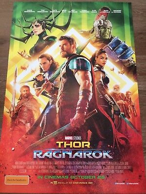 THOR: RAGNAROK One Sheet Movie Poster Chris Hemsworth