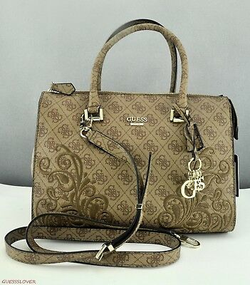 my386c guess arianna small satchel black in brown