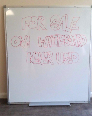 whiteboard 80cm wide, 90cm tall (White, two-sided, non-magnetic)
