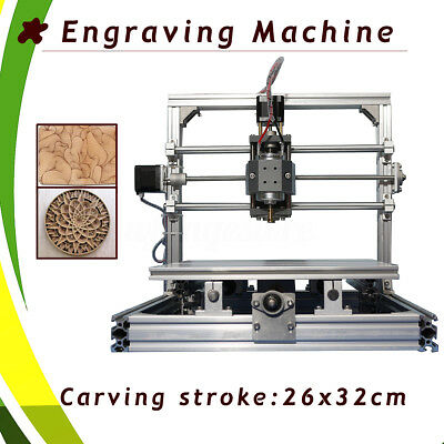 AU 26x32cm Engraver Engraving Router Desktop Logo Carver Cutter Cutting Machine