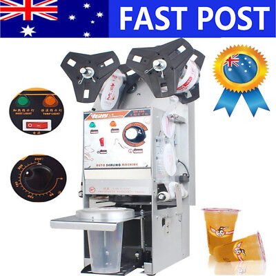 Electric Bubble Tea Cup Sealer 450 Cups/Hr Sealing Machine Semi Automatic