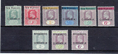 New Hebrides 1908-1910  9 Stamps Mlh *
