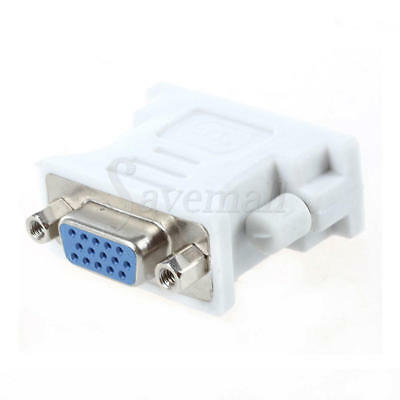 15 Pin PC Laptop Female Adapter 24+1 pin Video Converter for Male to VGA DVI-D