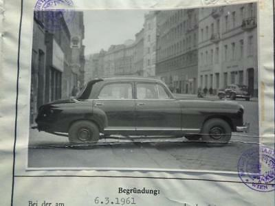 Mercedes  180D  1958  Typenschein !!!
