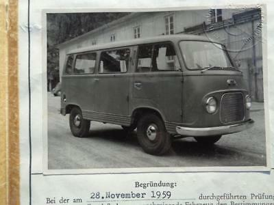 Ford  Fk  1250  Bus  1959  Typenschein!!!