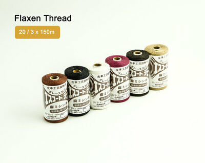 Flaxen Linen Ramie Thread 20 / 3 x 150m Hand Sewing Leather Leathercraft Craft