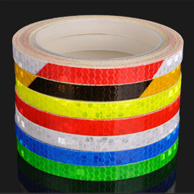 Bike Bicycle Motorcycle Reflective Stickers Strip Tape Safety Equipment Decals
