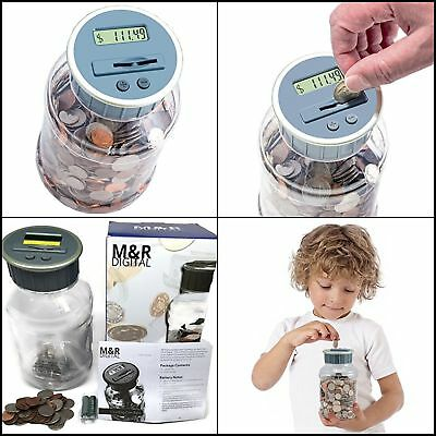 Digital Counting Coin Money Counter Bank Machine Battery Operated LCD Display