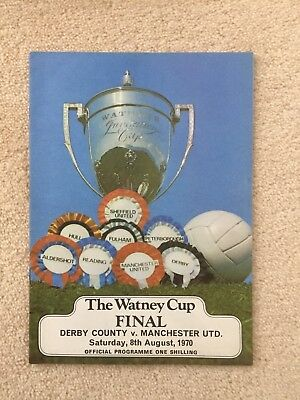Watney Cup Final Programme 1970 Derby v Manchester United - Mint