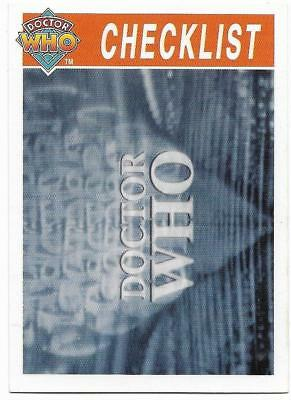 1995 Cornerstone DR WHO Base Card (112) Check List
