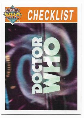 1995 Cornerstone DR WHO Base Card (113) Check List