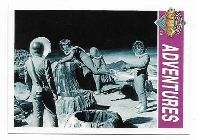 1995 Cornerstone DR WHO Base Card (128) Adventures