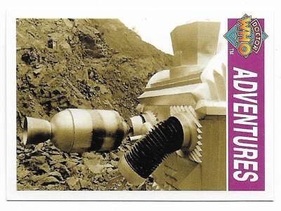 1995 Cornerstone DR WHO Base Card (134) Adventures