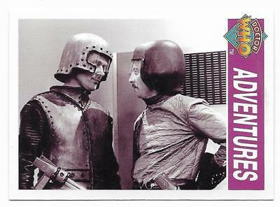 1995 Cornerstone DR WHO Base Card (135) Adventures