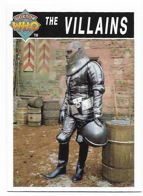 1995 Cornerstone DR WHO Base Card (199) The Villains