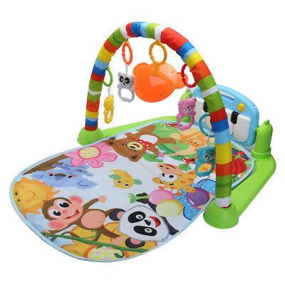 Baby Gym Play Mat Lay And Play 3 in 1 Fitness Music And Lights Fun Piano Set