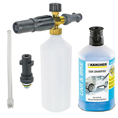 1L Snow Foam Nozzle Spray Bottle + Detergent for KARCHER FJ6 K2 K3 K4 K5 K6 K7