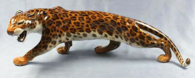 large leopard figurine Hutschenreuther extremly rare and perfect 1965