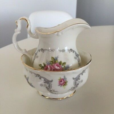 Royal Albert Tranquility Full Size Creamer and Open Sugar Bowl