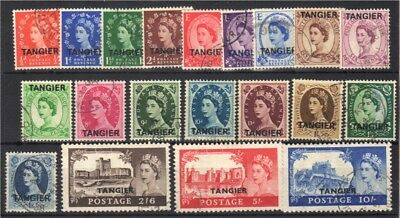 Morocco Agencies (Tangier) 1952/1955 FU set complete to 10/- - SG289etc