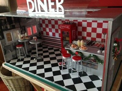 Dolls House 1/12th scale diner