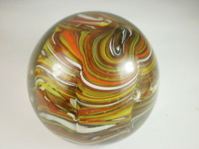 Multicoloured Layered Glass Large Paperweight