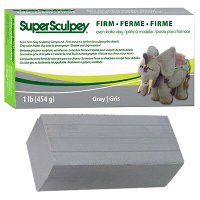 Super Sculpey Grey FIRM - 1lb (454gr.) - LOWEST COST IN THE UK