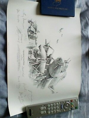 OPERATION CATECHISM PRINT  By Nicolas Trudgian Veteran SIGNED