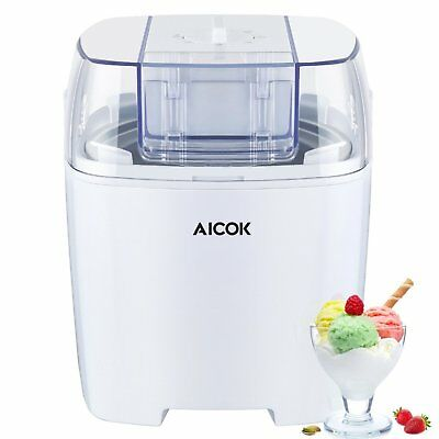 Aicok Ice Cream Sorbet Maker with Timer Function for Frozen 1.5 litre White New