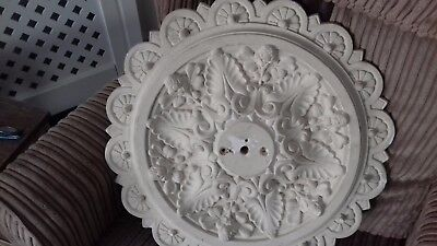 "Plaster Ceiling Rose Large Beautiful   vintage taken from my old home 18"" across"