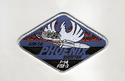"Usn/u.s.navy F-14 Tomcat Aim-54 Phoenix Shooter ""f-14 Fox-3"" Patch"