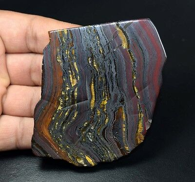 456.90 Cts. 100% Natural Multi Iron Tiger Slice For Making Cabochons