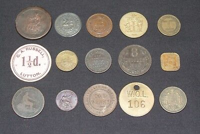 Job lot collection old coins & tokens