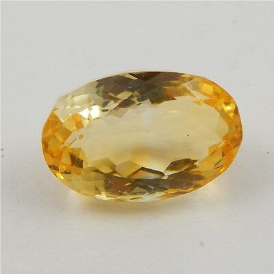 24.7 cts Natural Yellow Citrine Gemstone Beautiful Loose Cut Faceted R#260-24