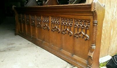oak church pew frontal