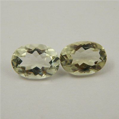 11.2 cts Natural Green Amethyst Gemstone Loose Cut Faceted Pair P#227-12