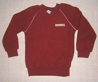 "Vintage Ladybird Sweater - Age 6 - Wine - ""Wear Me"" label - 100% Cotton - New"