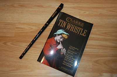 CLARKE ORIGINAL  D Tin Penny Folk Whistle with Book