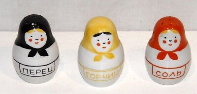 Vintage Russian Doll Cruet Set