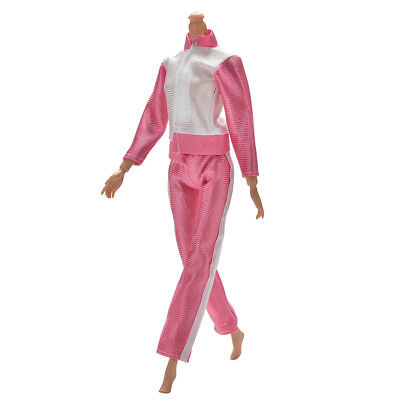 Pink girls toy doll BARBIE dress princess gym sports new set outfit dresses BC92