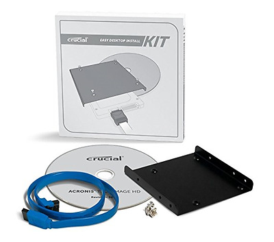 Crucial Solid State Drive Desktop Install Kit Brand New Sealed