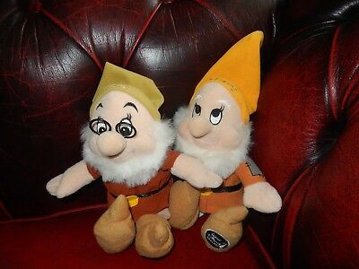 "Happy And Doc Original Disney World Dwarves.quality Items Both 9"" **l@@k**"