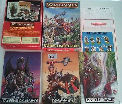 Complete Warhammer Fantasy Battle 2nd Second Edition Boxed Game 1984 - Oldhammer