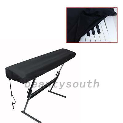 Dust-proof On Stage Keyboard Dust Cover for 61 or 88 Key Keyboards Black 1PCS