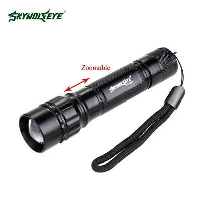 SKYWOLFEYE 5000 LM 3 Modes Zoom Torche NEW Q5 LED 18650 Lampe torche Lampe B8
