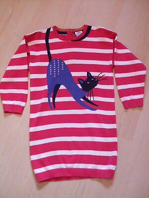 "Mamas And Papas Striped  ""cat"" Theme  Jumper  Dress   Age 3 - 4Yrs"