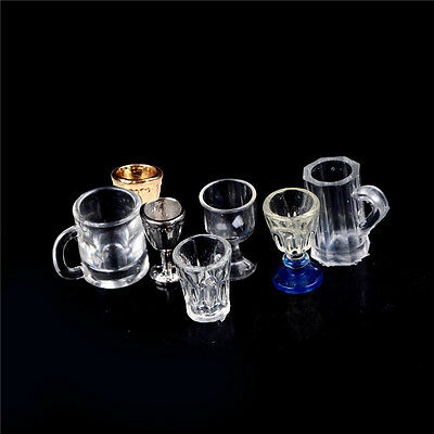 1:12 Dollhouse Miniature Kitchen Glass Beer Wine Cup Drink Bottles Decor FCt