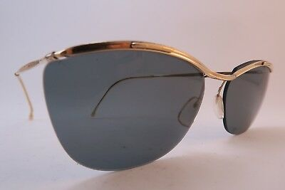 Vintage 50s sunglasses gold filled SOL AMOR grey lens made in France